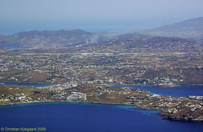 Mykonos Island National Airport is about 10 minutes' drive from the island's main town. The runway stretches more than 6,000 feet and can handle aircraft up to and including the Boeing 757 for flights to destinations throughout Europe.