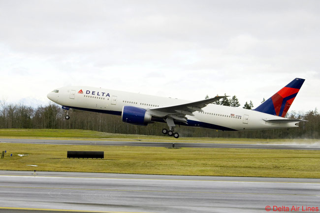 Delta Air Lines includes 10 Boeing 777-200LRs within its large long-haul fleet