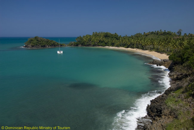 The Samana Peninsula has many beautiful, unspoiled beaches ― including this one