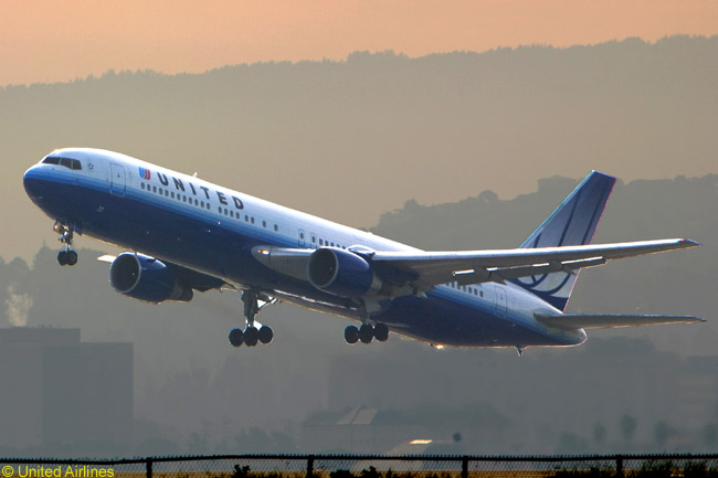 United Airlines has equipped its Boeing 767-300ERs with its newly upgraded business class, offering lie-flat bed-seats and 15-inch television screens for on-demand movies