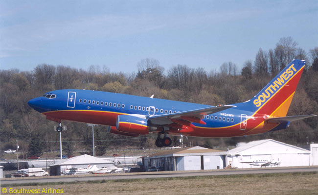Southwest Airlines operates an all-Boeing 737 fleet and its 737 fleet is the largest in the world