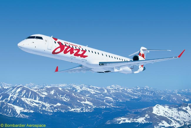 Air Canada Jazz will operate Air Canada's new daily Montréal-Houston service with 75-seat Bombardier CRJ705 regional jets, offering two-class service and in-flight entertainment at every seat