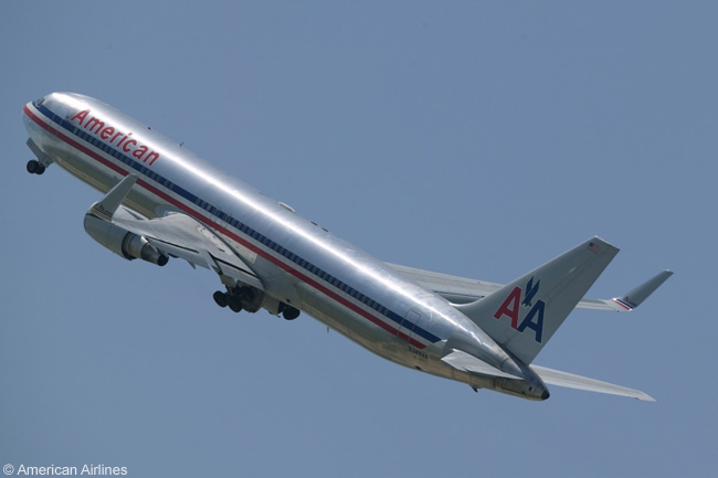 A Blended Winglet-equipped Boeing 767-300ER of American Airlines