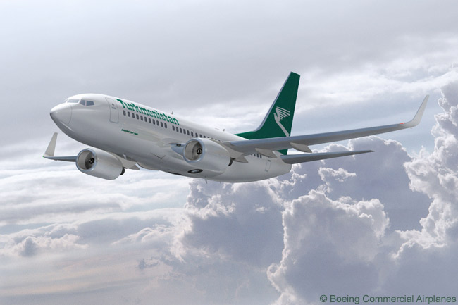 Turkmenistan Airlines has ordered three Boeing 737-700s to complement, or perhaps replace some aircraft in, its existing all-Boeing fleet