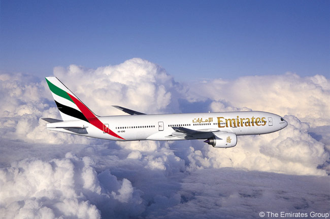 A Boeing 777-200LR of Emirates Airline. The carrier has ordered a fleet of 10 ultra-long-haul 777-200LRs