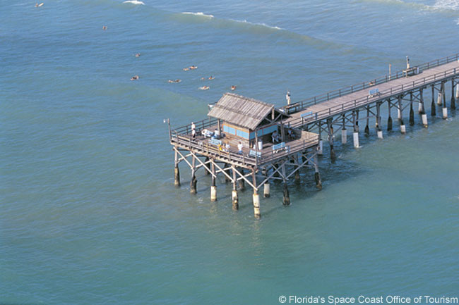 This photo shows the end of Cocoa Beach Pier at the seaside resort town of Cocoa Beach, on Florida's Space Coast near Cape Canaveral. Cocoa Beach hosts its first air show on October 3 and 4, 2009
