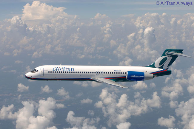 A Boeing 717 of AirTran Airways, which is by far the largest operator of the type in the world
