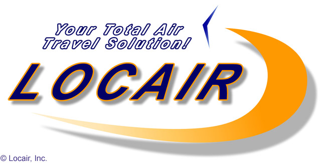 This is the logo of Fort Lauderdale, Florida-based air taxi operator Locair, which operates a fleet of nine-seat and 19-seat Fairchild Metro IIIs