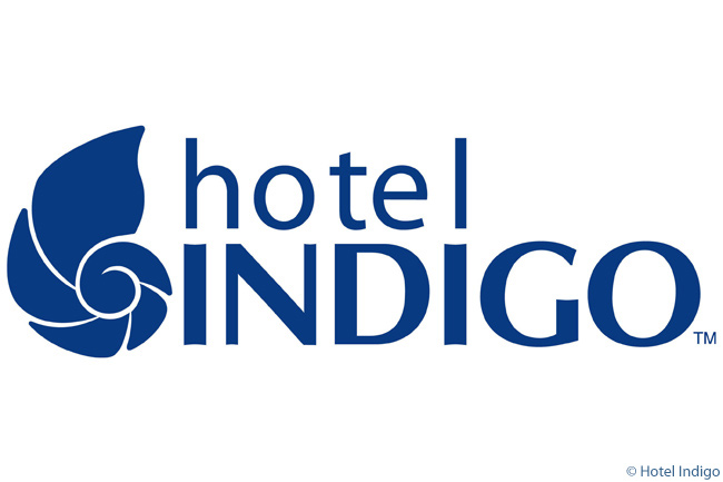 This is the logo of the Hotel Indigo upscale boutique-hotel brand, whose stated goal is to deliver a refreshing and inviting guest experience that is well-priced and truly reflective of the local community