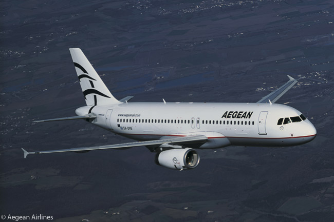 Although it won an award in 2009 in the huge, global Skytrax annual passenger-satisfaction survey for being Europe's best regional airline, Greece's Aegean Airlines mainly operates Airbus A320s and A321s. Aegean now is Greece's largest airline and in May 2010 becomes a full member of the Star Alliance