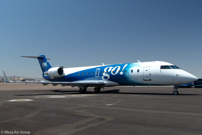 Mesa Air Group's go! operation, which provides inter-island service in Hawaii, flies Bombardier CRJ200s. Inter-island carrier Mokulele Airlines also operates CRJs, and Mesa and Mokulele have formed a joint venture, called go! Mokulele, to combine their respective networks in Hawaii