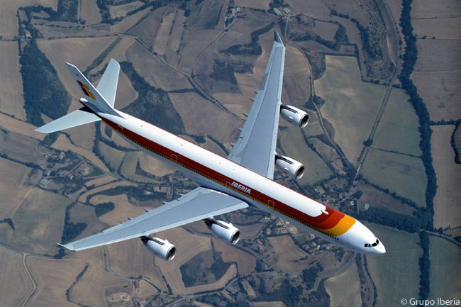 Grupo Iberia is one of Europe's largest airline groups and Iberia itself has the largest presence of any airline on routes linking Europe and Latin America. Iberia operates its long-haul routes from Spain to Central and South America with Airbus A340-600s, like this one shown here, and A340-300s