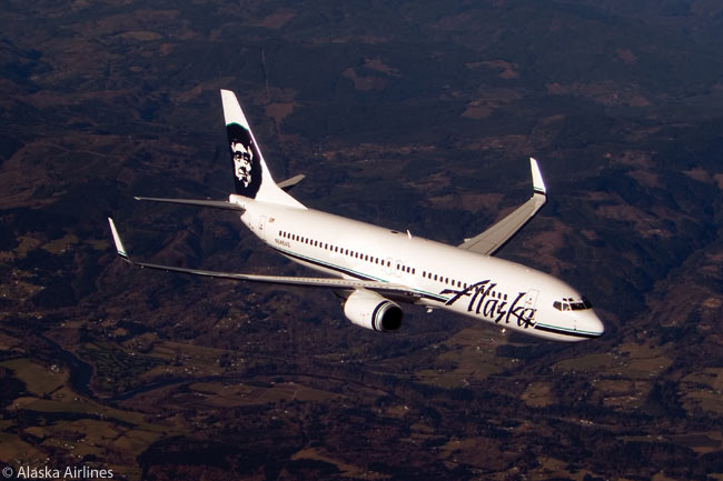 Alaska Airlines now operates an all-Boeing 737 fleet, which is comprised of 737-400s, 737-700s and 737-800s, including the one seen in this photograph. The 737-800 has become the workhorse of the Alaska Airlines fleet