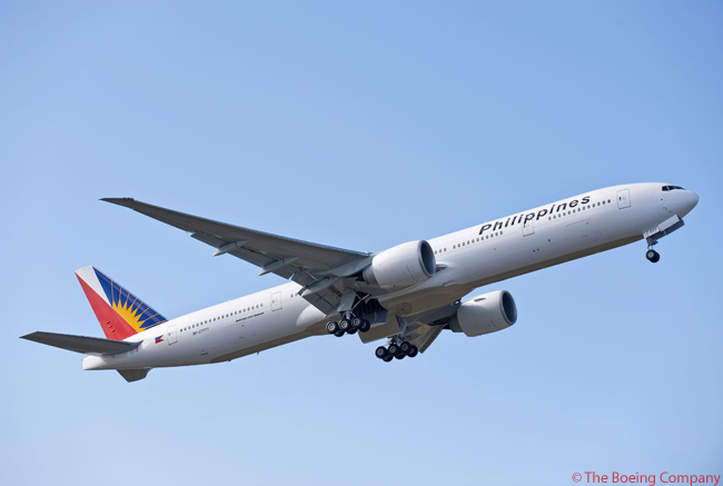 Philippine Air Lines is leasing two new Boeing 777-300ERs from GE Commercial Aviation Services and will take delivery of another four it has ordered directtly from Boeing
