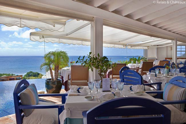 Hôtel Le Toiny, in St. Barthélemy, has been named a Grand Chef Relais & Châteaux