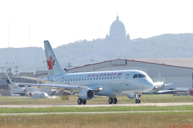 Air Canada's mainline short-haul fleet includes 15 Embraer 175s (one is shown here) and 45 Embraer 190s, as well as 86 Airbus A320-family aircraft. The airline also has a large long-haul fleet