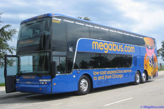 Megabus.com operates a fleet of 81-seat, high-tech double-decker coaches that achieve a fuel performance of 305 passenger miles per gallon of fuel, on a network linking various major U.S. cities. The company is participating in the Universoty's of Vermont's Green Coach Certification pilot program and has already been awarded 'Green Coach Passenger Miles' and 'Green Coach Clean Engine Technology' certifications