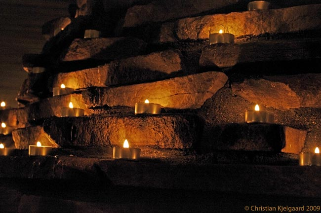 The name of the restaurant Tuikku on top of Levi fell, the highest hill in Finnish Lapland, means 'tealight candle'. The interior of the restaurant is made warm and cozy by the light of dozens of the candles that Tiukku is named for