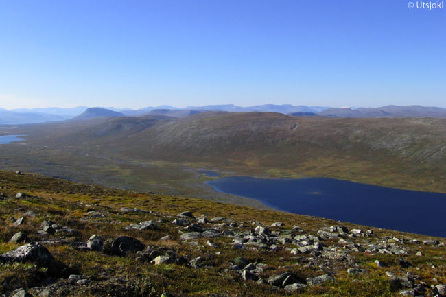 Although most of the international visitors to Finnish Lapland come for the winter-sports season, Lapland can be a paradise in summer too for tourists who love wide-open spaces and outdoor pursuits. This is a view from Termisvaara in Käsivarsi Wilderness Area in the Enontekiö area of Lapland