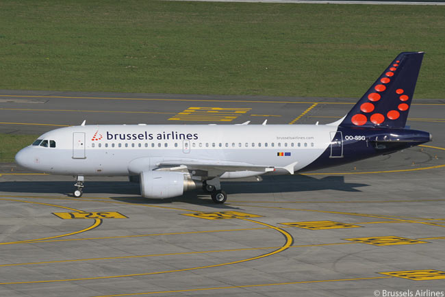 Among the 37 single-aisle jets in Brussels Airlines' fleet are 17 Airbus A319s, which the carrier uses to operate longer European sectors and to Tel Aviv