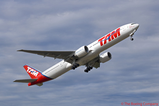 On February 28, 2011, TAM Linhas Aereas ordered two additional 777-300ERs and secured purchase rights on two more. The order brought the total number of 777-300ERs ordered by TAM to 12
