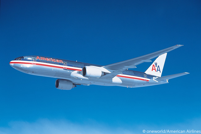 Until American Airlines starts taking delivery of many of the Boeing 787s which it has ordered, the Boeing 777-200ER and 777-300ER are the carrier's primary long-haul aircraft types. American operates 47 777-200ERs, each of which it has outfitted to seat 247 passengers in three service classes