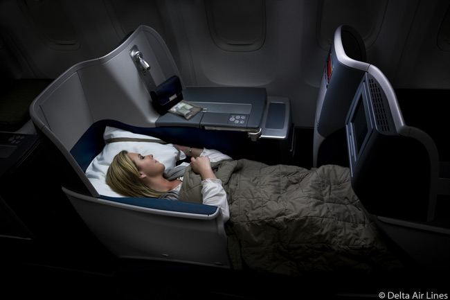 Delta Air Lines is now featuring fully lie-flat beds in the BusinessElite-class cabins of its long-haul aircraft, including a dedicated Boeing 767-400ER with which the airline is adding a third daily flight between New York JFK and London Heathrow airports