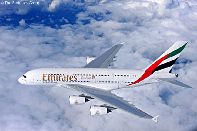 Emirates' June 8, 2010 order for another 32 Airbus A380s took its total order for the super-jumbo type to 90 aircraft, some 70 aircraft more than the next-largest A380 customer. Emirates expects eventually to serve about 100 airports worldwide with A380s