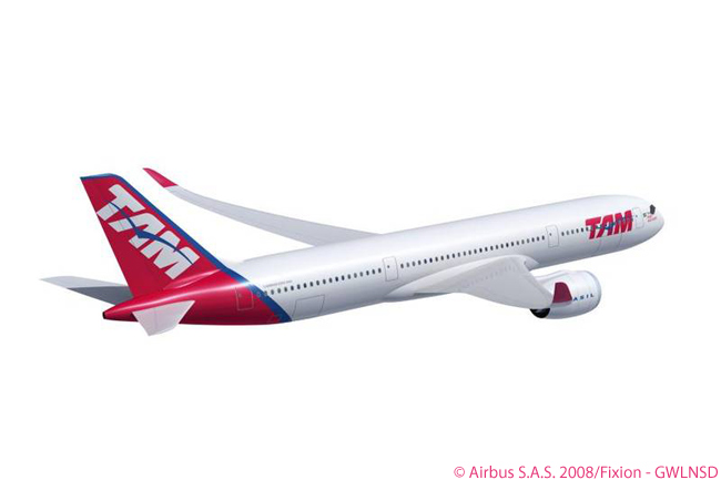 An order for five Airbus A350-900s at the ILA Berlin Airshow on June 8, 2010 took Brazilian carrier TAM Airlines' total A350 XWB buy to 27 aircraft