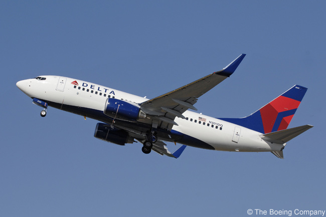 A new Delta Air Lines 737-700 was the first Boeing Next-Generation 737 to receive carbon brakes, in 2008. Delta operates 10 Boeing 737-700s and also has 73 Boeing 737-800s in its fleet