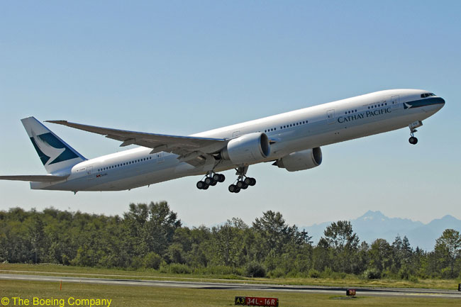 Having exercised purchase rights for six Boeing 777-300ERs, Hong Kong-based Cathay Pacific Airways is increasing its future fleet of the type from 30 to 36 aircraft