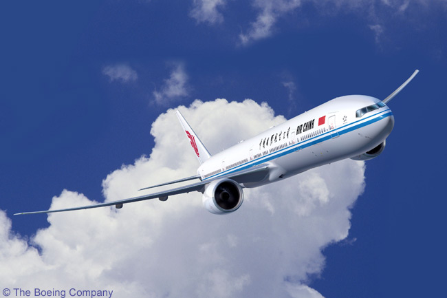 Chinese flag carrier Air China has ordered a total of 20 Boeing 777-300ERs. The Chinese flag-carrier's sizable long-haul fleet includes Airbus A330-200s, A330-300s and A340-300s as well as Boeing 777-200s and 747-400s