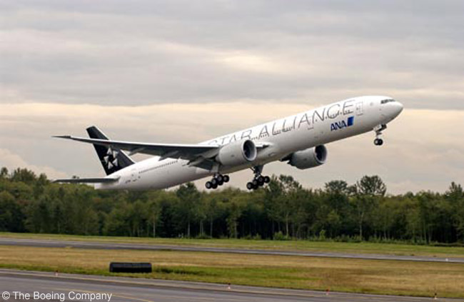 A launch customer for the Boeing 777-300ER, Japan's All Nippon Airways received its first example on November 1, 2004. Star Alliance member ANA now operates 19 of the type as well as three non-ER 777-300s