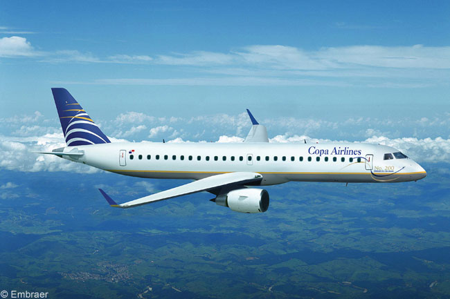 In late 2006, when it received this Embraer 190, Panama's Copa Airlines took delivery of the 200th Embraer E-Jet built