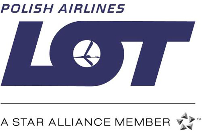 This is the official logo of LOT Polish Airlines, a member of the Star Alliance