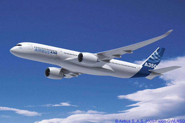 The A350 XWB is Airbus' competitive response to the Boeing 787 Dreamliner but its three models are not an exact size match, the A350 XWB being a somewhat larger aircraft than the Dreamliner. The A350-1000, the largest A350 XWB model offered by Airbus, is actually nearly comparable in size and capacity to the Boeing 777-300ER, while the A350-900 will be a competitor to the Boeing 777-200ER and 777-200LR