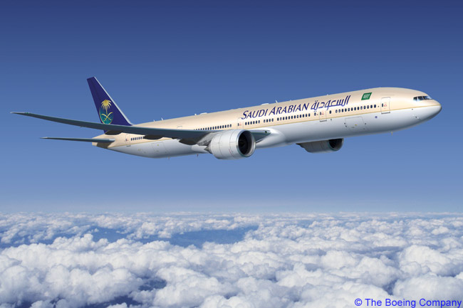 Saudi Arabian Airlines ordered 12 Boeing 777-300ERs to add to the 23 777-200ERs it already had in service. The carrier also took over an order for eight Boeing 787s from Kuwait-based leasing company ALAFCO