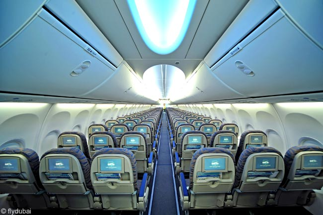 Flydubai's latest Boeing 737-800s feature the new Boeing 737 Sky Interior