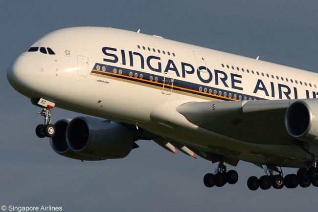 Singapore Airlines has a total of 19 Airbus A380 superjumbos in service, plus orders for five more