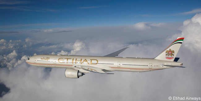 Etihad Airways has a total of 30 Boeing 777-300ERs in service and on option