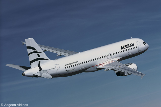 Airbus A320s and A321s from the bulk of Aegean Airlines' fleet