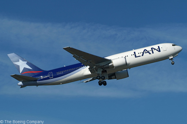 LAN Airlines' order on February 18, 2011 for three more Boeing 767-300ERs increased to 33 the total number of 767s ordered by the carrier. As of that date, LAN's fleet of owned and leased 767s consisted of 28 767-300ER passenger aircraft and 11 767-300F freighters