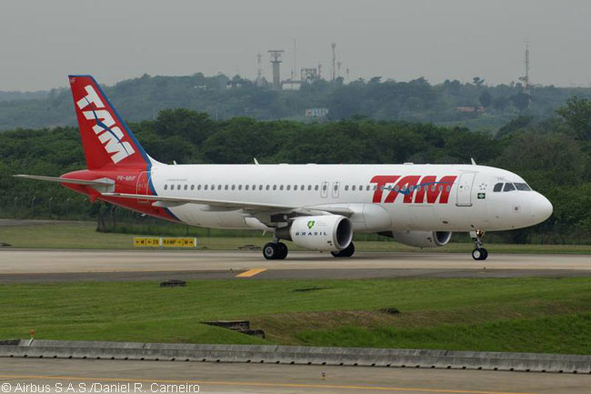 TAM Airlines and Airbus performed the first Jatropha-based biofuel flight in Latin America, on November 23, 2010, using one of TAM's A320s