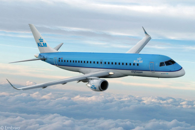KLM CityHopper, the regional-airline subsidiary of KLM Royal Dutch Airlines, has ordered a total of 22 Embraer 190s and is leasing six additional 190s from BOC Aviation