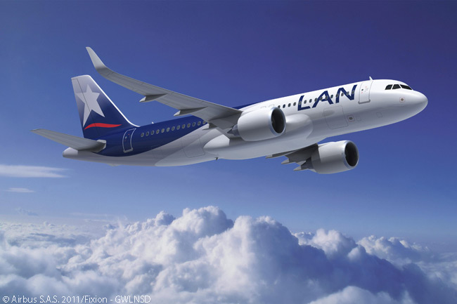 Six months after signing a firm order for 50 Airbus A320-family aircraft in december 2010, LAN Airlines signed an order at the Paris Airshow on June 22, 2011 for 20 A320neos