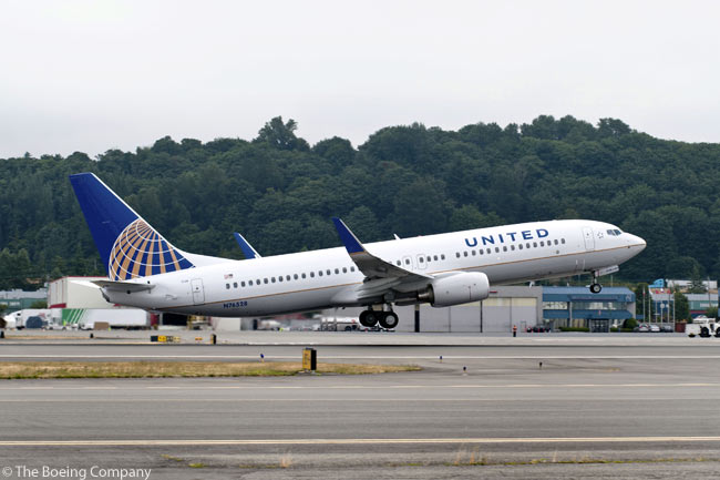 During the week of August 15, 2011, Boeing delivered to United the Next-Generation 737-800 which the manufacturer used as its flying test bed for Boeing's 737NG performance improvement package