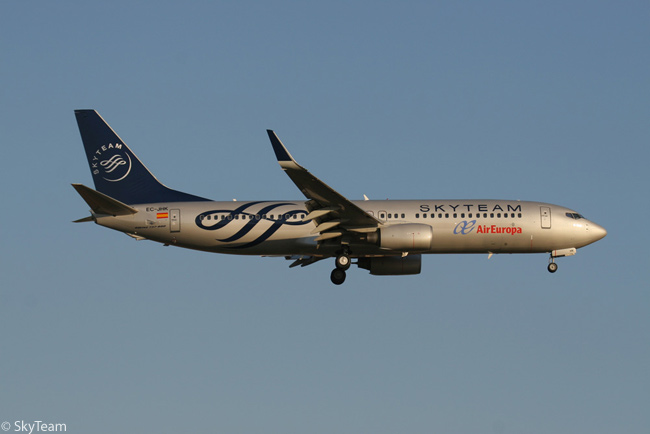 SkyTeam Alliance member Air Europa operates a sizable fleet of Boeing 737-800s on its short- and medium-haul scheduled services