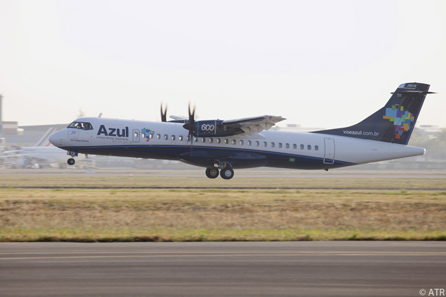 Brazilian carrier Azul Linhas Aéreas Brasileiras took delivery of its first ATR 72-600 on October 7, 2011, in the process becoming the first Latin American carrier to receive the new ATR regional turboprop