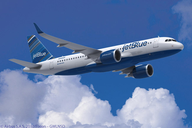 On October 27, 2011, JetBlue Airways finalized an order it had announced at the Paris Air Show for 40 Airbus A320neo-family aircraft. JetBlue also decided to convert pre-existing orders for 30 A320s into orders for A321-200s with Sharklet wingtip devices