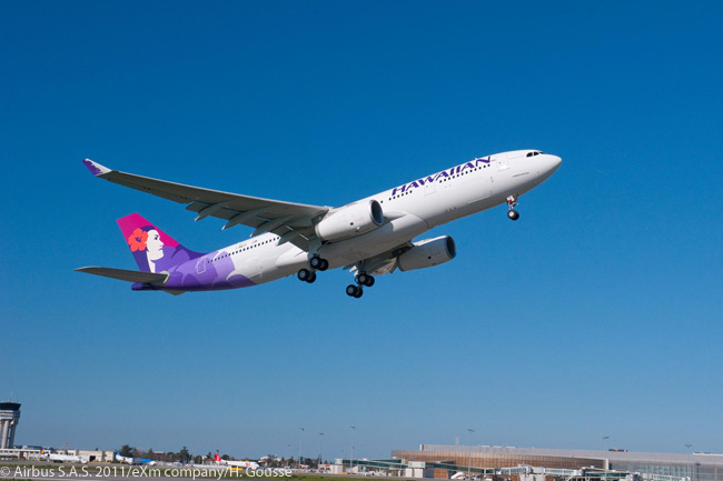 On November 17, 2011, Hawaiian Airlines placed a repeat order for five additional Airbus A330-200s, taking its total commitment for the type (including leases) to 22